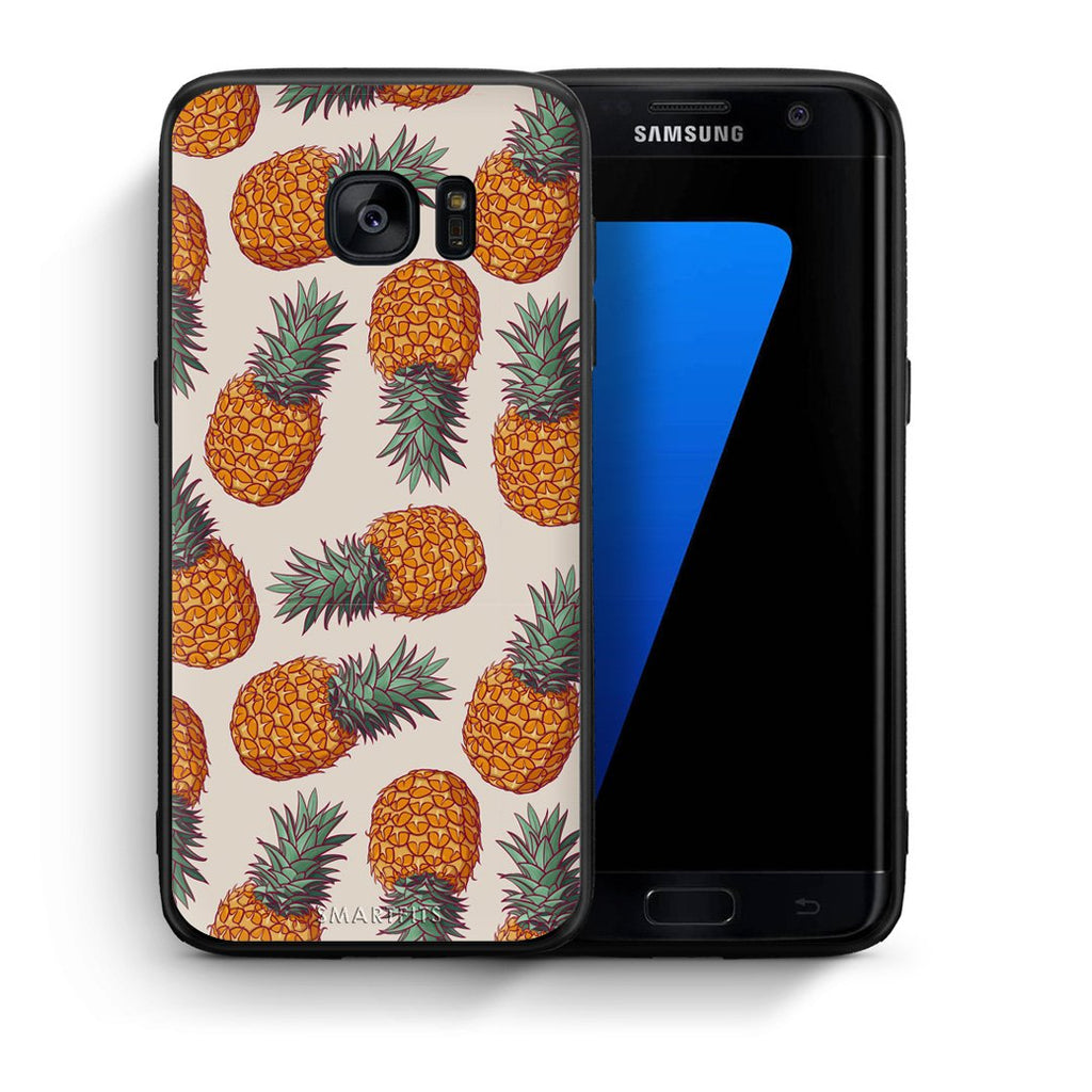 99 - samsung galaxy s7 edge Summer Real Pineapples case, cover, bumper
