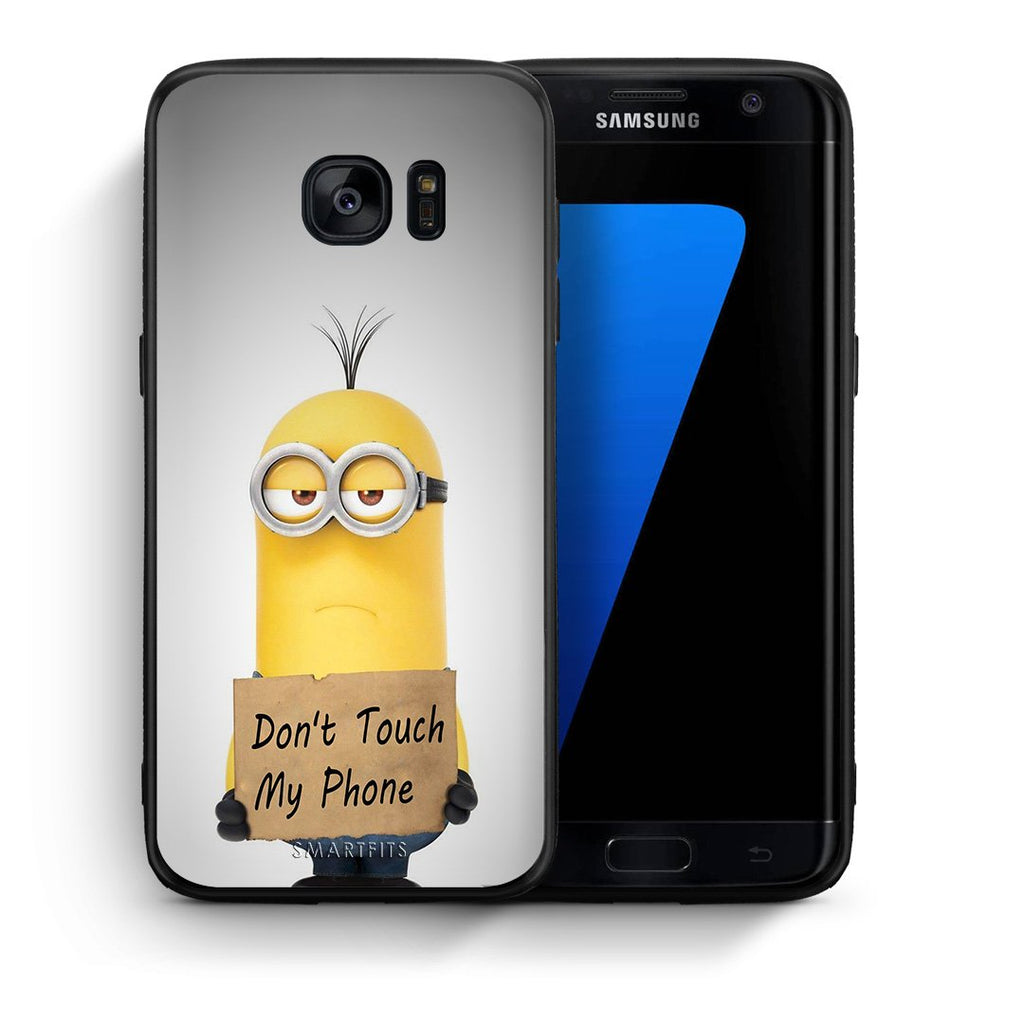 4 - samsung s7 edge Minion Text case, cover, bumper