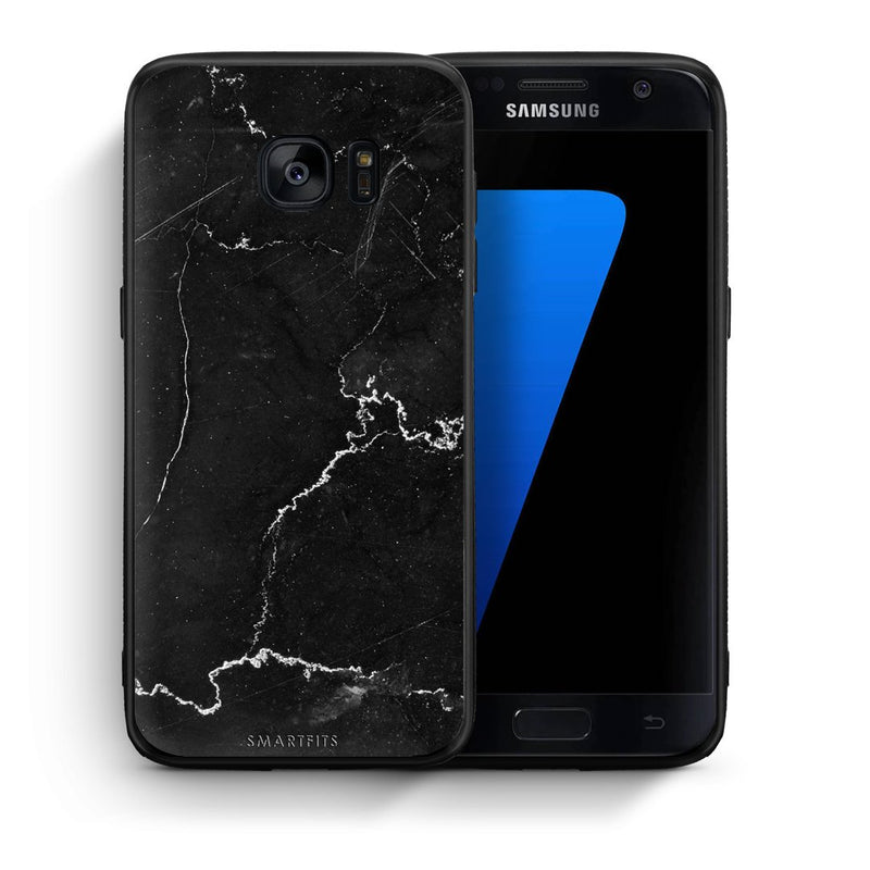 1 - samsung galaxy s7 black marble case, cover, bumper