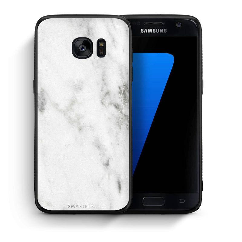 2 - samsung galaxy s7 White marble case, cover, bumper