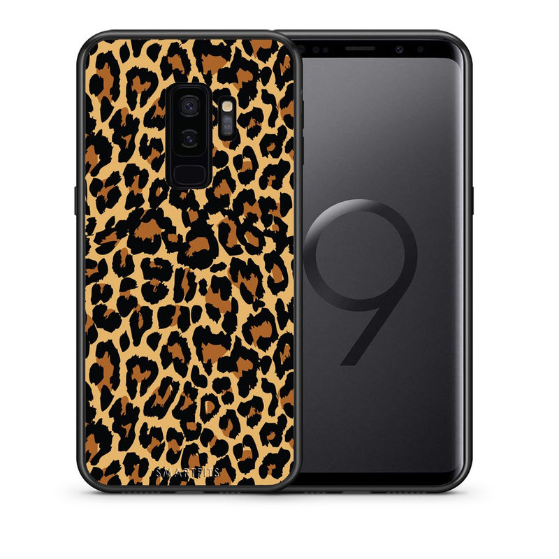 Θήκη Samsung S9 Plus Leopard Animal από τη Smartfits με σχέδιο στο πίσω μέρος και μαύρο περίβλημα | Samsung S9 Plus Leopard Animal case with colorful back and black bezels