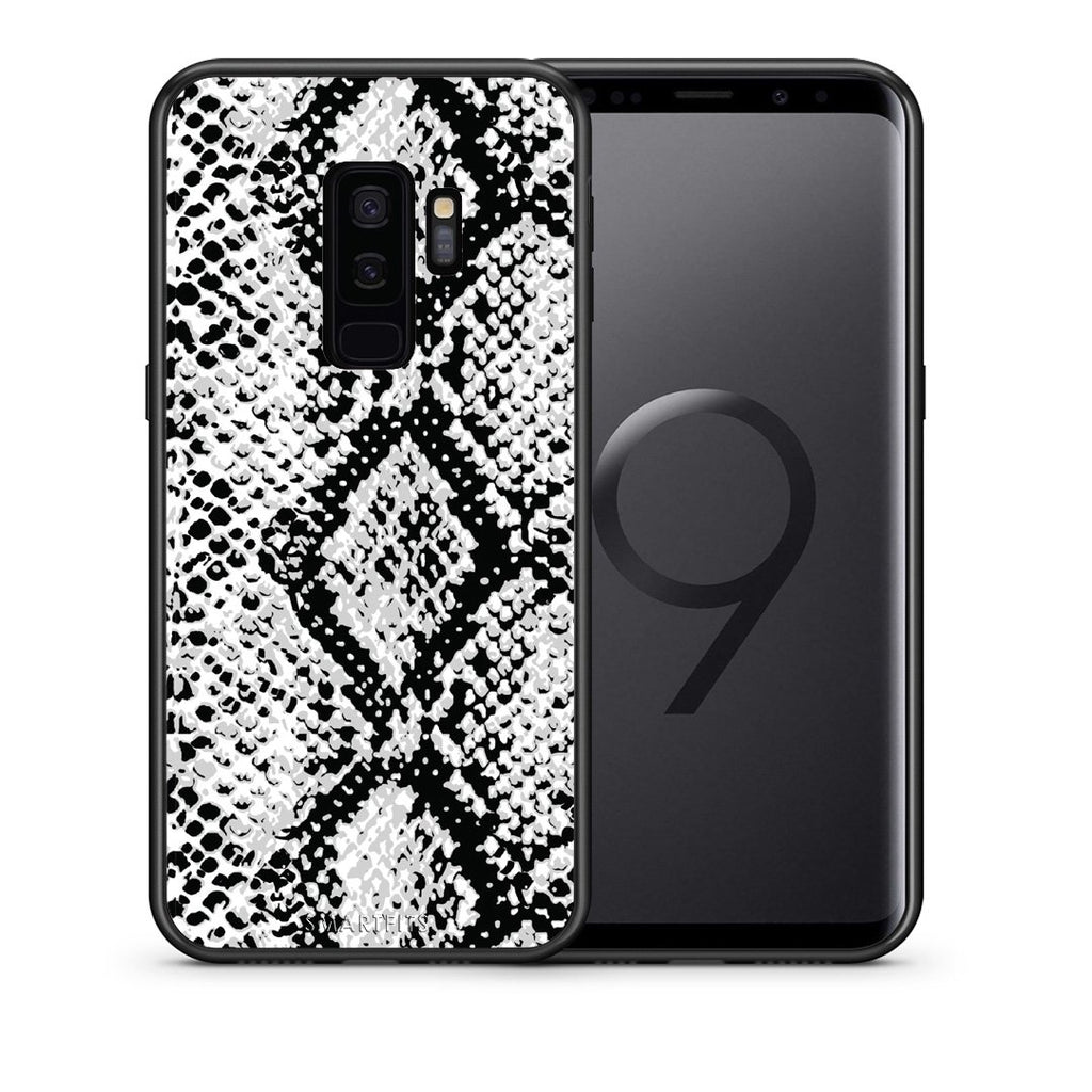 24 - samsung galaxy s9 plus White Snake Animal case, cover, bumper