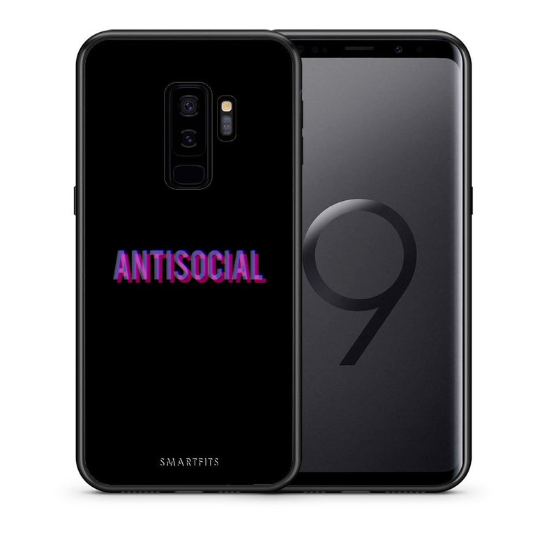 Θήκη Samsung S9 Plus Antisocial Person από τη Smartfits με σχέδιο στο πίσω μέρος και μαύρο περίβλημα | Samsung S9 Plus Antisocial Person case with colorful back and black bezels