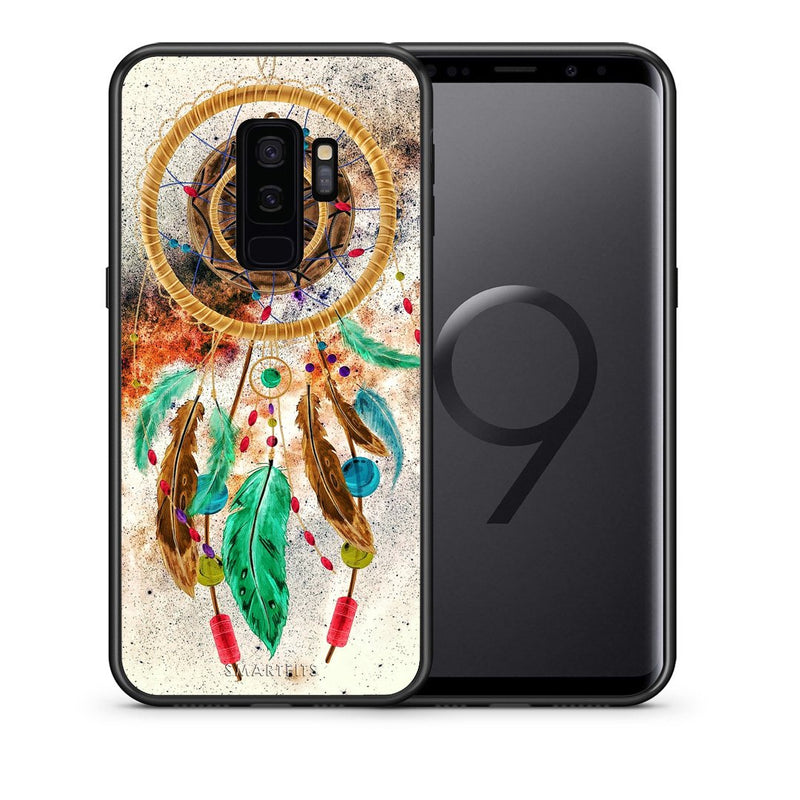 Θήκη Samsung S9 Plus DreamCatcher Boho από τη Smartfits με σχέδιο στο πίσω μέρος και μαύρο περίβλημα | Samsung S9 Plus DreamCatcher Boho case with colorful back and black bezels