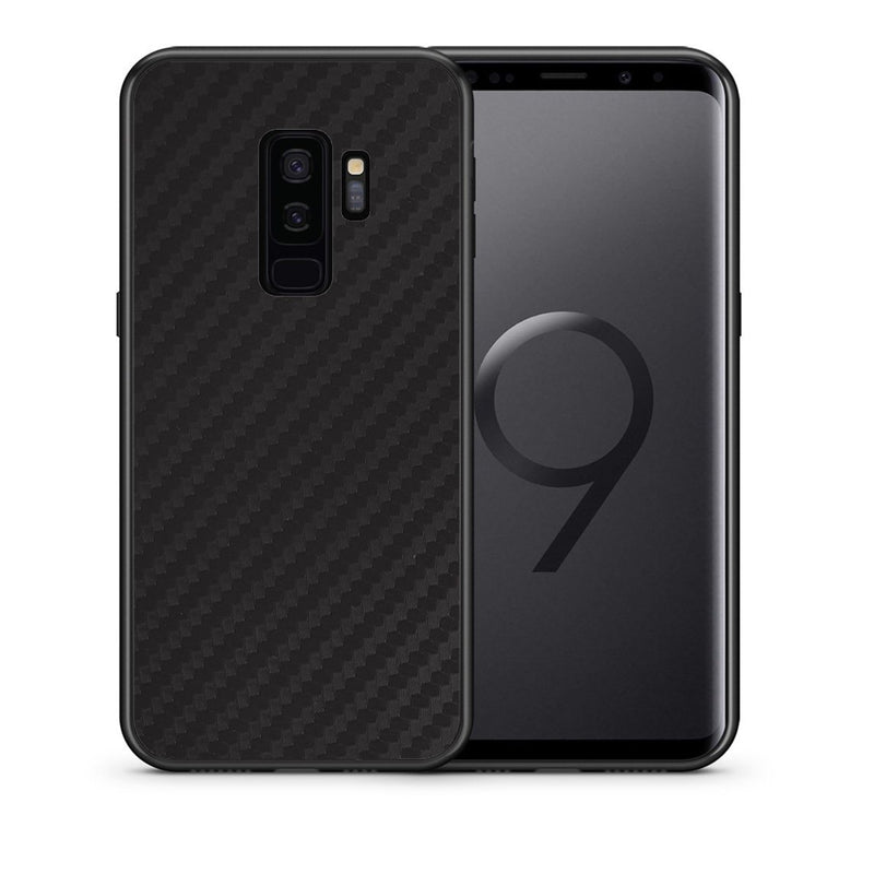 Θήκη Samsung S9 Plus Black Carbon από τη Smartfits με σχέδιο στο πίσω μέρος και μαύρο περίβλημα | Samsung S9 Plus Black Carbon case with colorful back and black bezels
