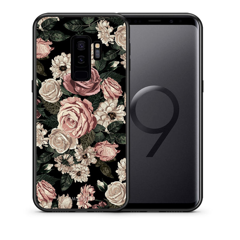 Θήκη Samsung S9 Plus Wild Roses Flower από τη Smartfits με σχέδιο στο πίσω μέρος και μαύρο περίβλημα | Samsung S9 Plus Wild Roses Flower case with colorful back and black bezels