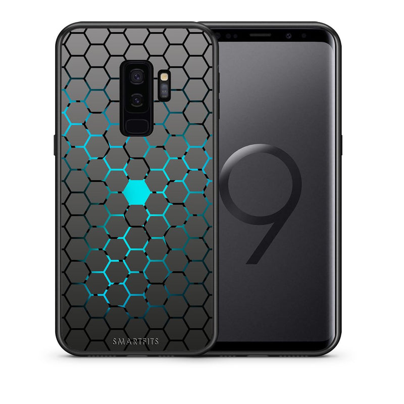 Θήκη Samsung S9 Plus Hexagonal Geometric από τη Smartfits με σχέδιο στο πίσω μέρος και μαύρο περίβλημα | Samsung S9 Plus Hexagonal Geometric case with colorful back and black bezels