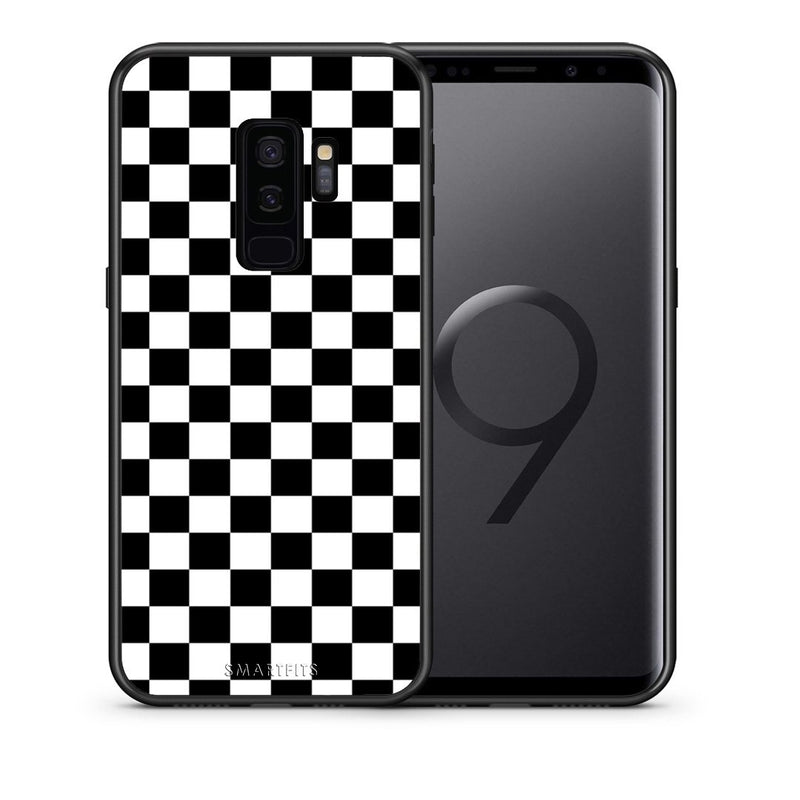 Θήκη Samsung S9 Plus Squares Geometric από τη Smartfits με σχέδιο στο πίσω μέρος και μαύρο περίβλημα | Samsung S9 Plus Squares Geometric case with colorful back and black bezels