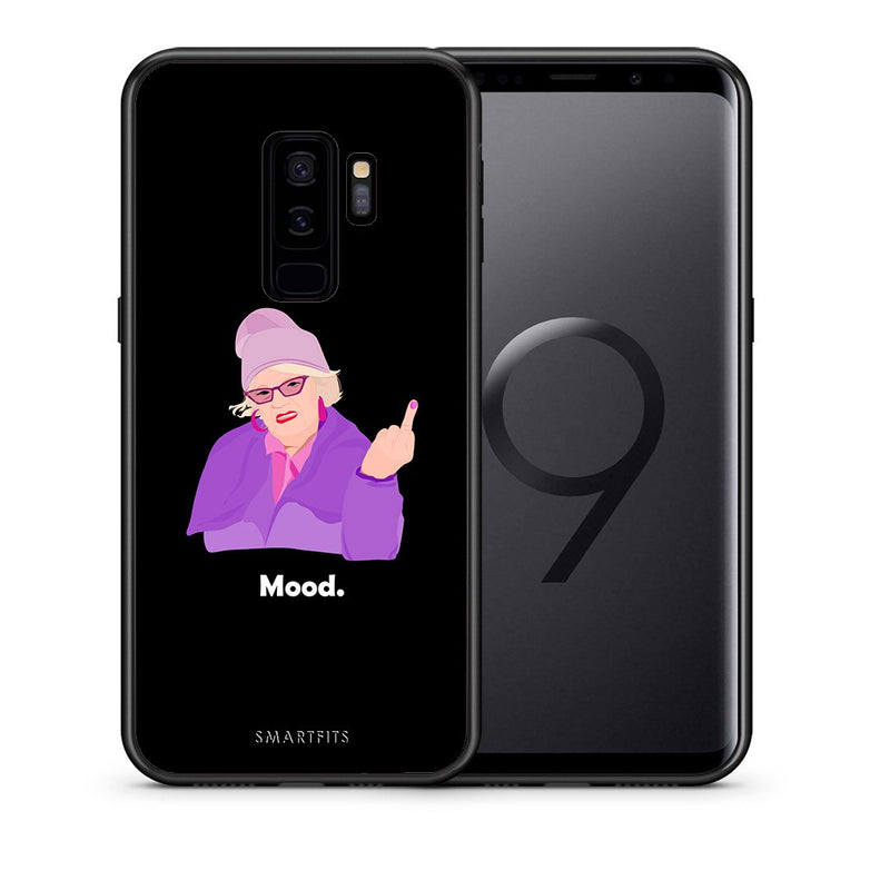 Θήκη Samsung S9 Plus Grandma Mood Black από τη Smartfits με σχέδιο στο πίσω μέρος και μαύρο περίβλημα | Samsung S9 Plus Grandma Mood Black case with colorful back and black bezels