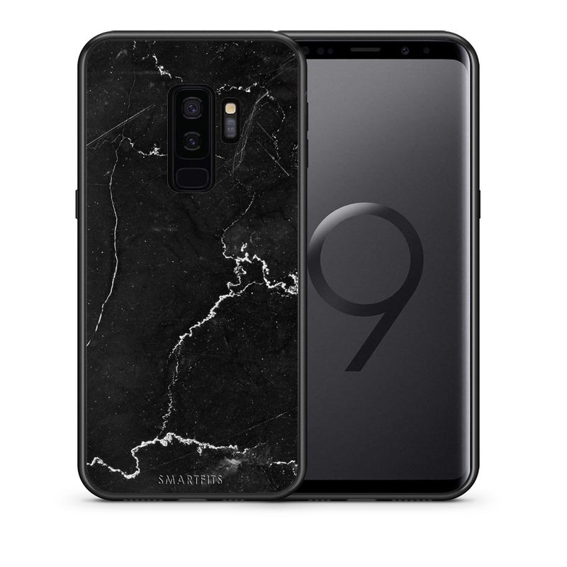 Θήκη Samsung S9 Plus Black Marble από τη Smartfits με σχέδιο στο πίσω μέρος και μαύρο περίβλημα | Samsung S9 Plus Black Marble case with colorful back and black bezels