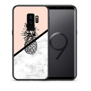 4 - samsung s9 plus Pineapple Marble case, cover, bumper