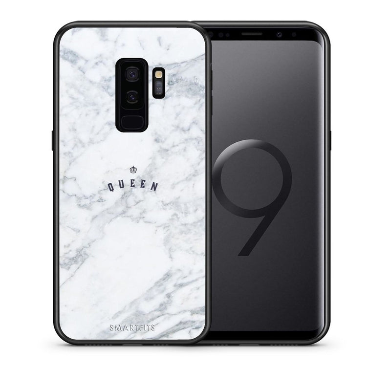 Θήκη Samsung S9 Plus Queen Marble από τη Smartfits με σχέδιο στο πίσω μέρος και μαύρο περίβλημα | Samsung S9 Plus Queen Marble case with colorful back and black bezels