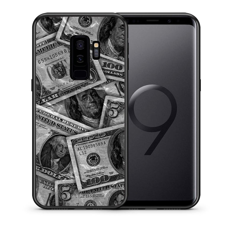 Θήκη Samsung S9 Plus Money Dollars από τη Smartfits με σχέδιο στο πίσω μέρος και μαύρο περίβλημα | Samsung S9 Plus Money Dollars case with colorful back and black bezels