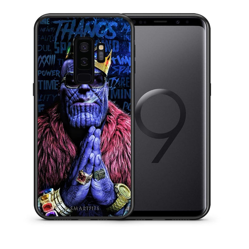 Θήκη Samsung S9 Plus Thanos PopArt από τη Smartfits με σχέδιο στο πίσω μέρος και μαύρο περίβλημα | Samsung S9 Plus Thanos PopArt case with colorful back and black bezels