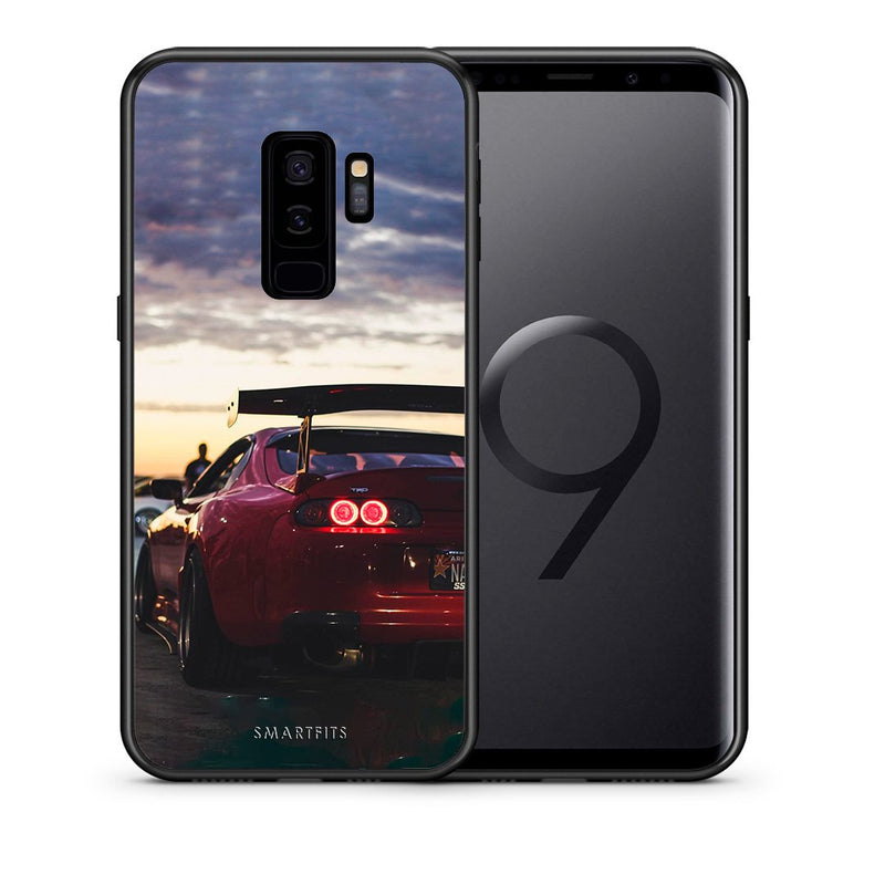 Θήκη Samsung S9 Plus Racing Supra από τη Smartfits με σχέδιο στο πίσω μέρος και μαύρο περίβλημα | Samsung S9 Plus Racing Supra case with colorful back and black bezels