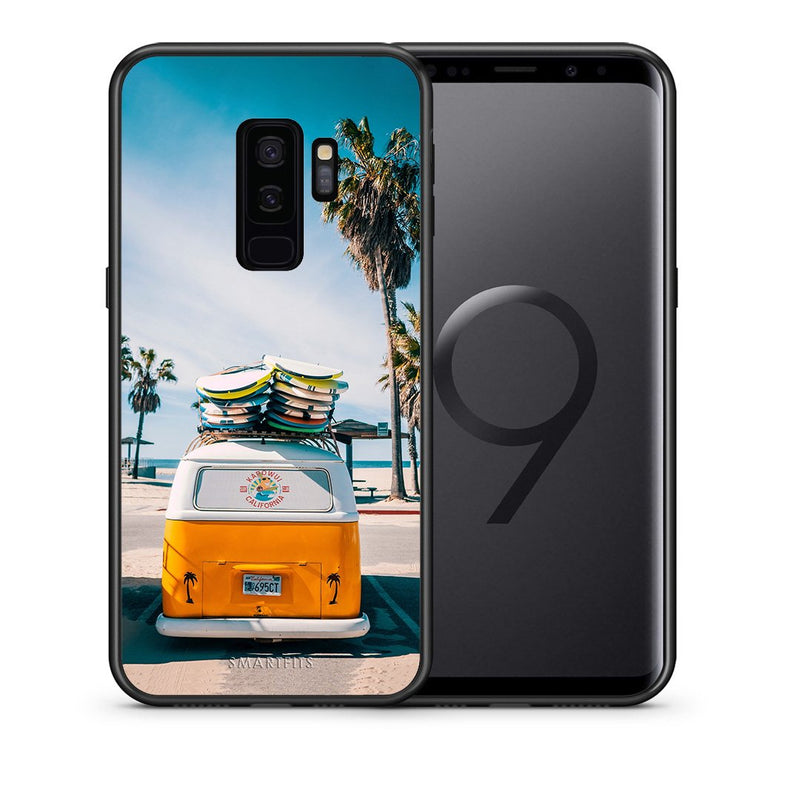 Θήκη Samsung S9 Plus Travel Summer από τη Smartfits με σχέδιο στο πίσω μέρος και μαύρο περίβλημα | Samsung S9 Plus Travel Summer case with colorful back and black bezels
