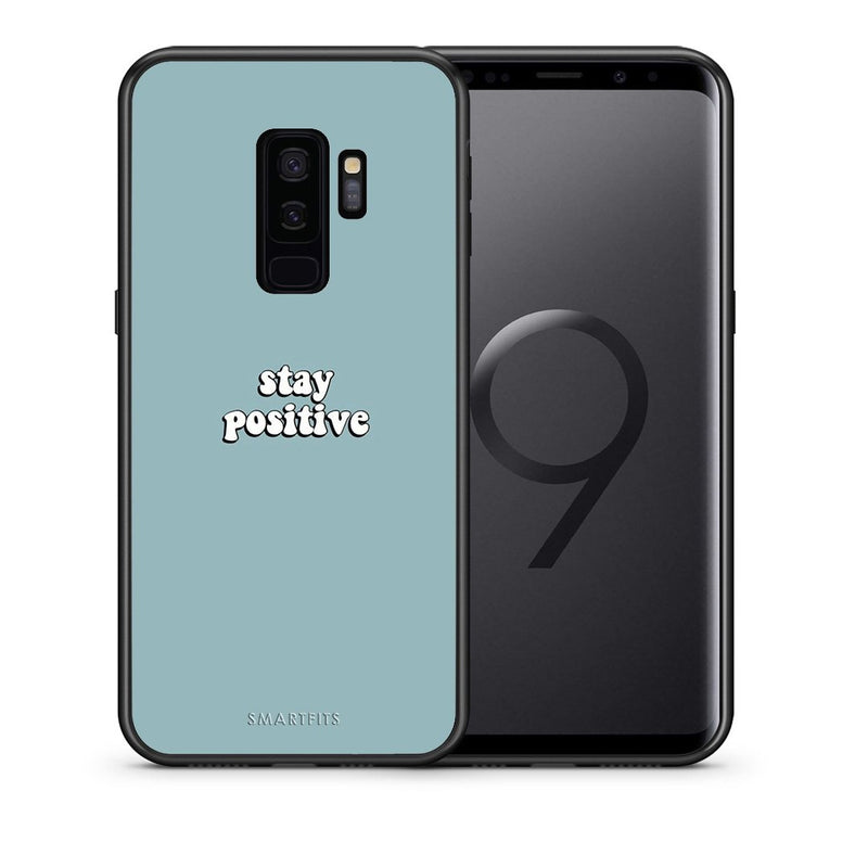 Θήκη Samsung S9 Plus Positive Text από τη Smartfits με σχέδιο στο πίσω μέρος και μαύρο περίβλημα | Samsung S9 Plus Positive Text case with colorful back and black bezels