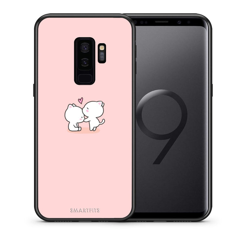 Θήκη Samsung S9 Plus Love Valentine από τη Smartfits με σχέδιο στο πίσω μέρος και μαύρο περίβλημα | Samsung S9 Plus Love Valentine case with colorful back and black bezels