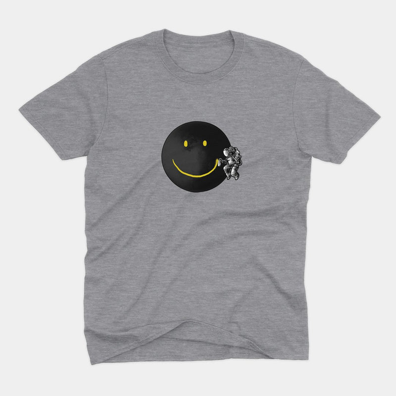 Funny Astronaut Smiley Γκρι T-Shirt