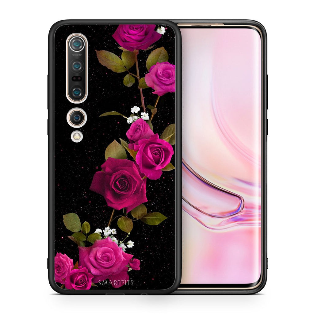 4 - Xiaomi Mi 10/10 Pro Red Roses Flower case, cover, bumper
