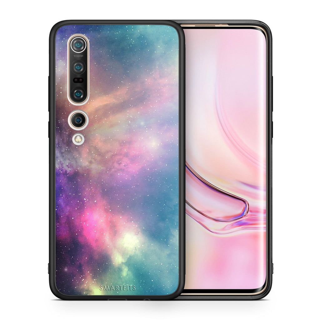 105 - Xiaomi Mi 10/10 Pro  Rainbow Galaxy case, cover, bumper