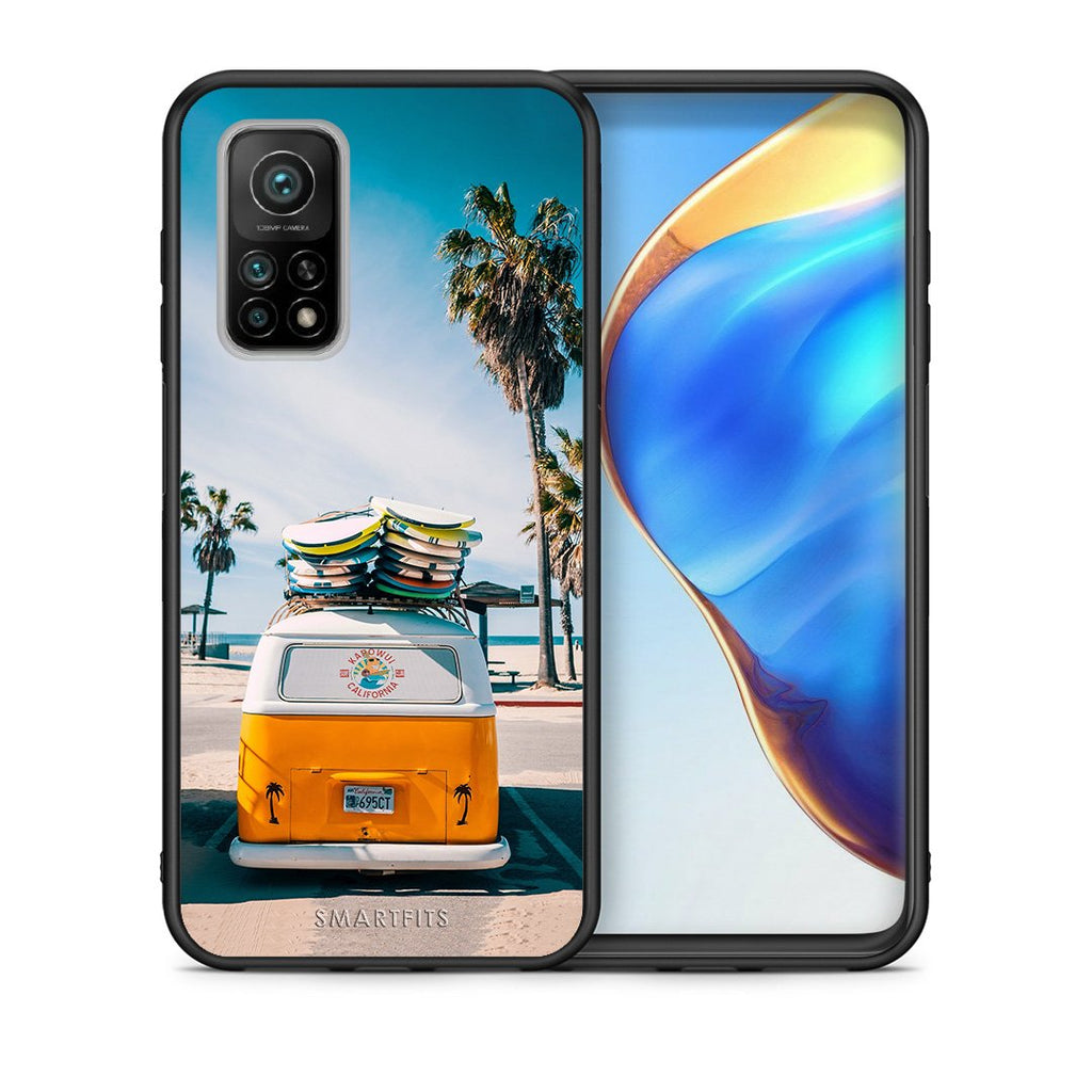 Θήκη Xiaomi Mi 10T/10T Pro Travel Summer από τη Smartfits με σχέδιο στο πίσω μέρος και μαύρο περίβλημα | Xiaomi Mi 10T/10T Pro Travel Summer case with colorful back and black bezels