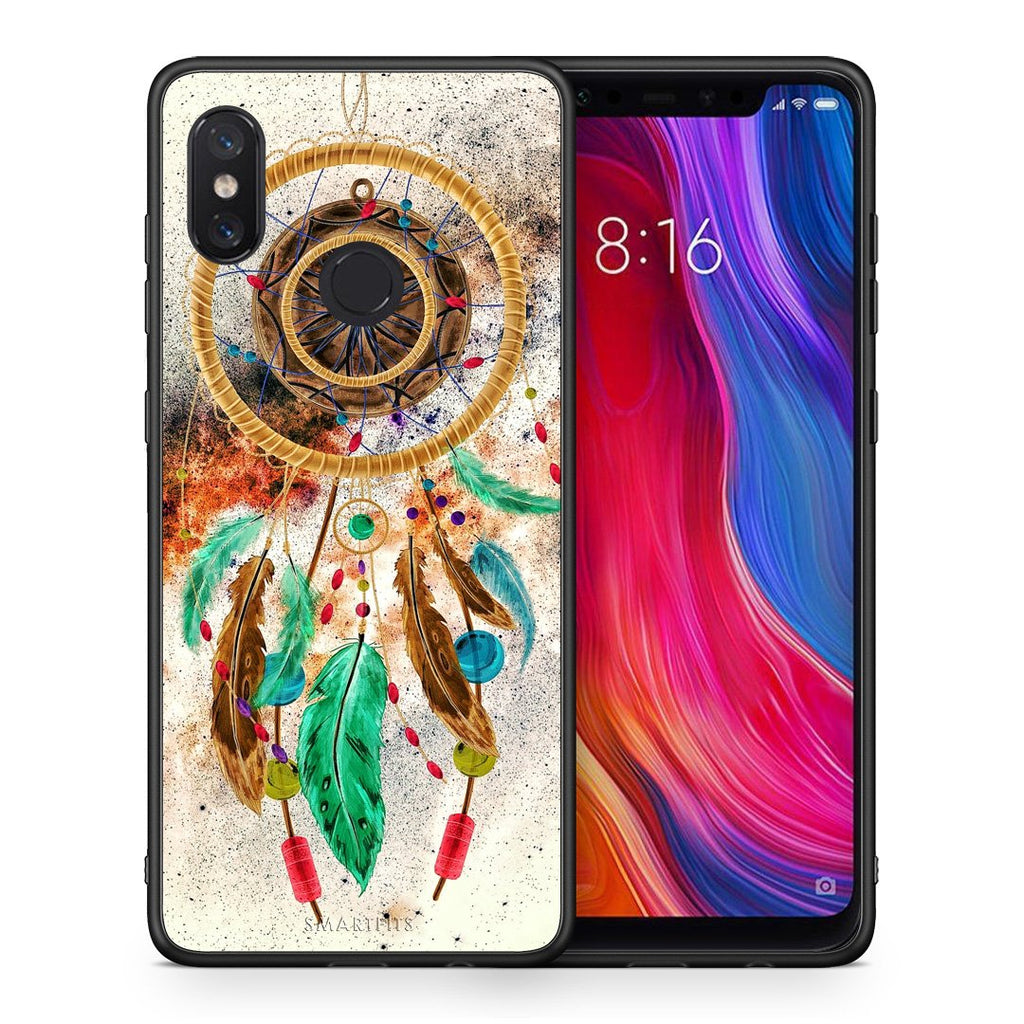 4 - Xiaomi Mi 8 DreamCatcher Boho case, cover, bumper