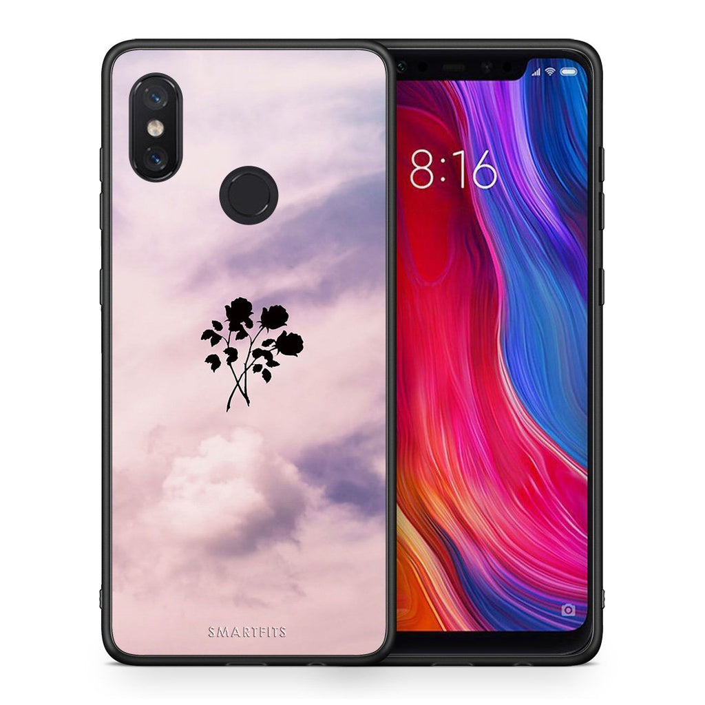 4 - Xiaomi Mi 8 Sky Flower case, cover, bumper