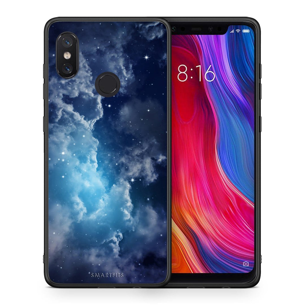104 - Xiaomi Mi 8 Blue Sky Galaxy case, cover, bumper