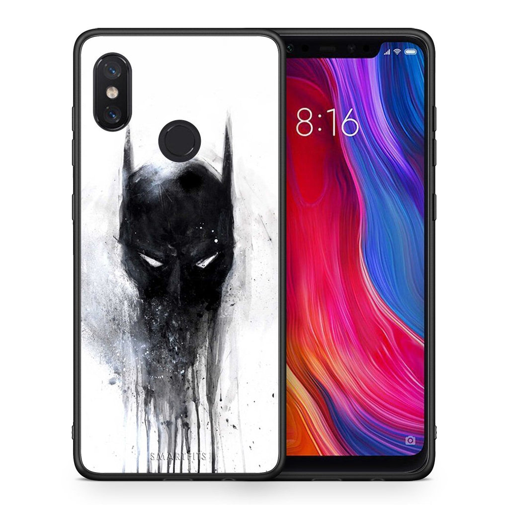 4 - Xiaomi Mi 8 Paint Bat Hero case, cover, bumper