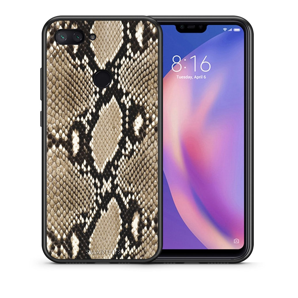 23 - Xiaomi Mi 8 Lite  Fashion Snake Animal case, cover, bumper