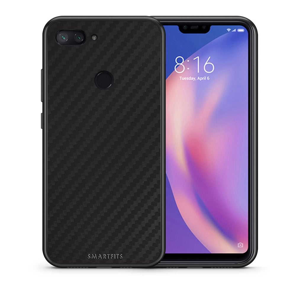 Θήκη Xiaomi Mi 8 Lite Black Carbon από τη Smartfits με σχέδιο στο πίσω μέρος και μαύρο περίβλημα | Xiaomi Mi 8 Lite Black Carbon case with colorful back and black bezels