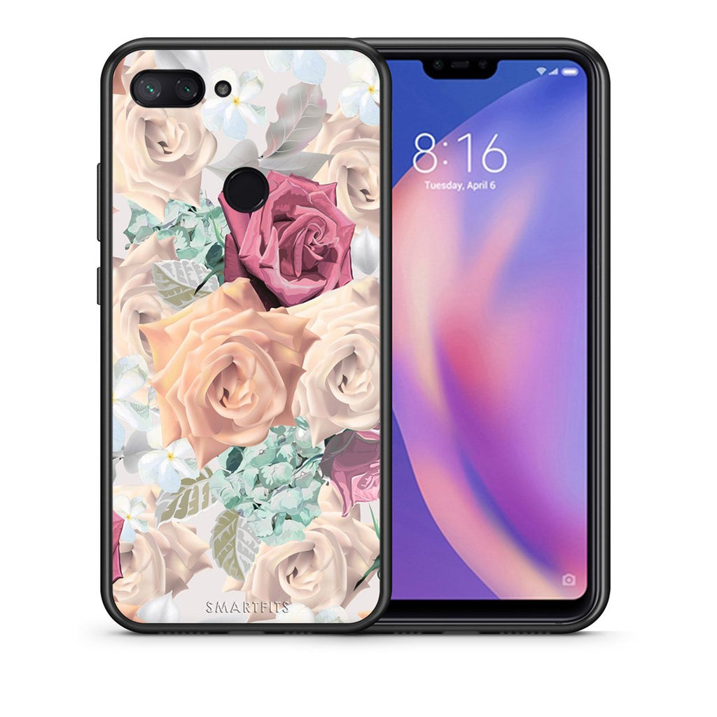 Θήκη Xiaomi Mi 8 Lite Bouquet Floral από τη Smartfits με σχέδιο στο πίσω μέρος και μαύρο περίβλημα | Xiaomi Mi 8 Lite Bouquet Floral case with colorful back and black bezels