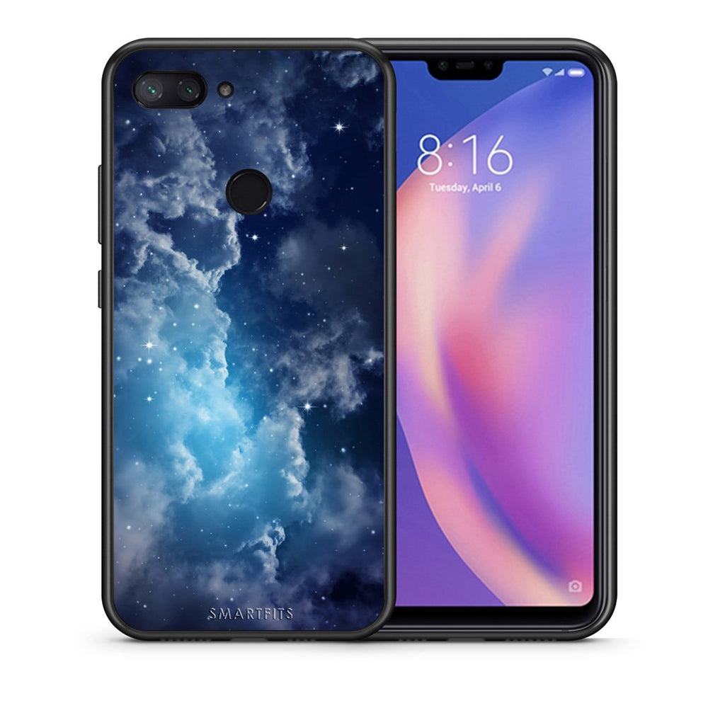 104 - Xiaomi Mi 8 Lite  Blue Sky Galaxy case, cover, bumper