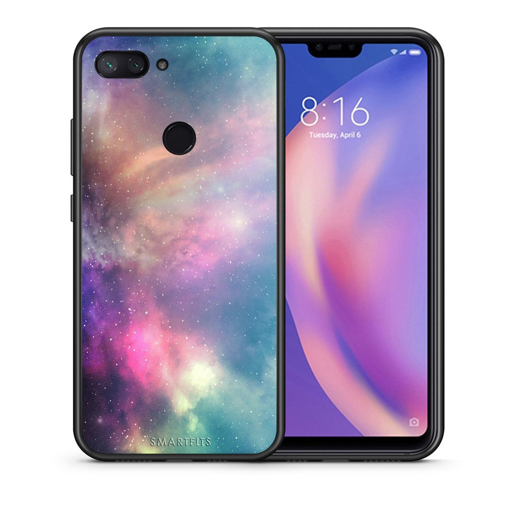 105 - Xiaomi Mi 8 Lite  Rainbow Galaxy case, cover, bumper