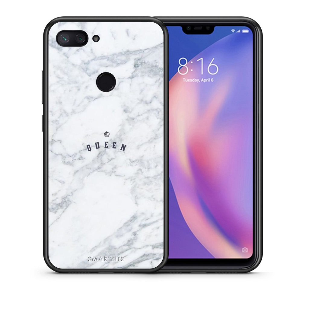 Θήκη Xiaomi Mi 8 Lite Queen Marble από τη Smartfits με σχέδιο στο πίσω μέρος και μαύρο περίβλημα | Xiaomi Mi 8 Lite Queen Marble case with colorful back and black bezels