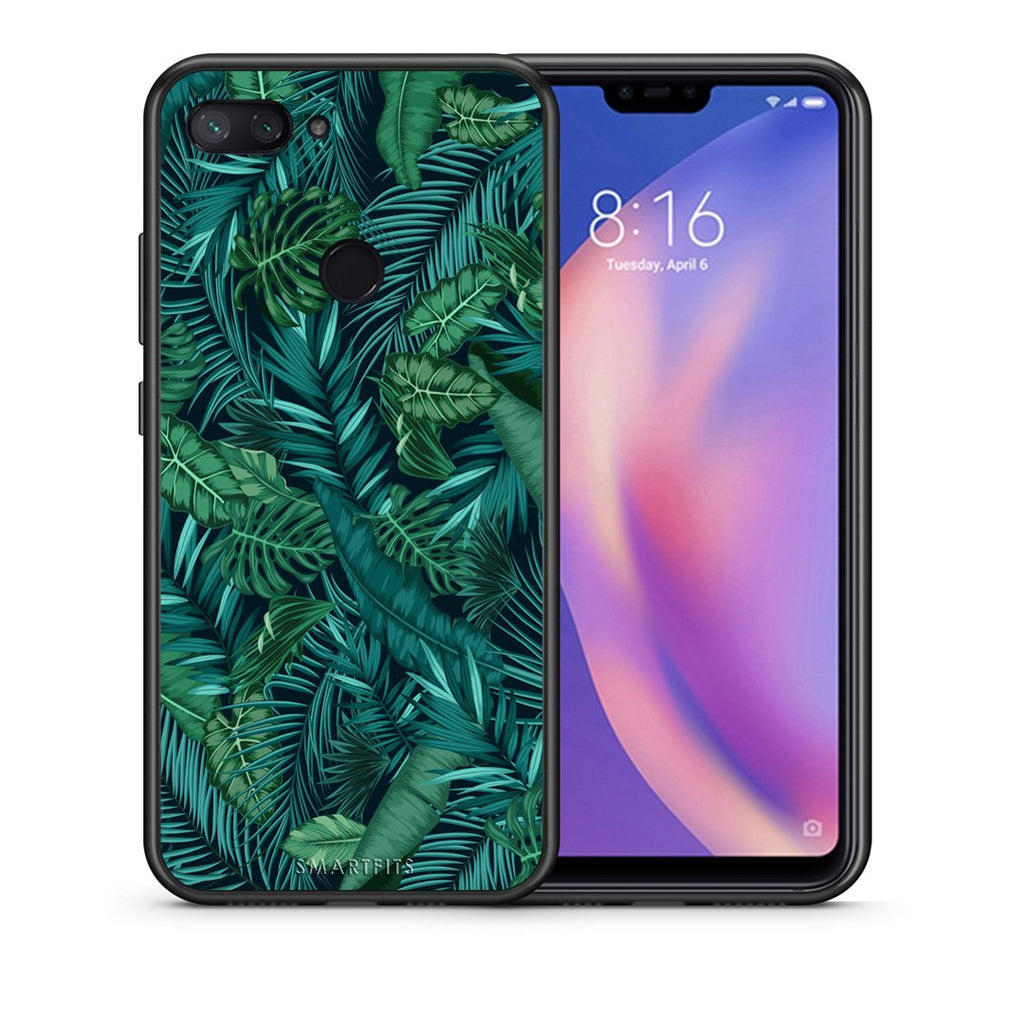 99 - Xiaomi Mi 8 Lite  Tropic Leaves case, cover, bumper