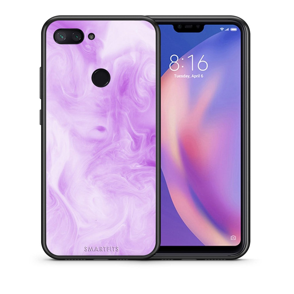 99 - Xiaomi Mi 8 Lite  Watercolor Lavender case, cover, bumper