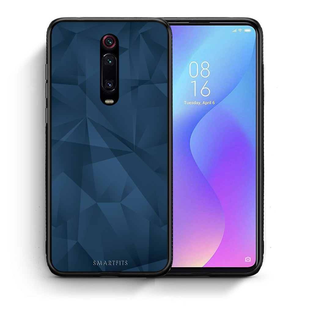 39 - Xiaomi Mi 9T Blue Abstract Geometric case, cover, bumper