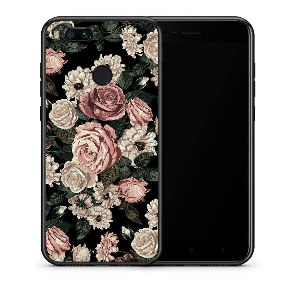 Θήκη Xiaomi Mi A1 Wild Roses Flower από τη Smartfits με σχέδιο στο πίσω μέρος και μαύρο περίβλημα | Xiaomi Mi A1 Wild Roses Flower case with colorful back and black bezels