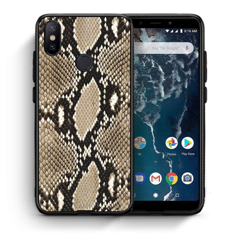 23 - Xiaomi Mi A2  Fashion Snake Animal case, cover, bumper