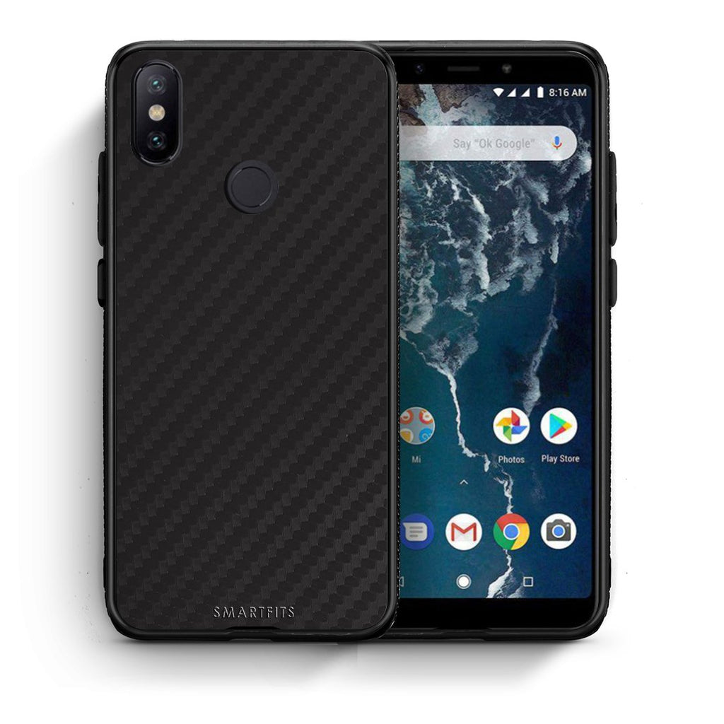0 - Xiaomi Mi A2  Black Carbon case, cover, bumper