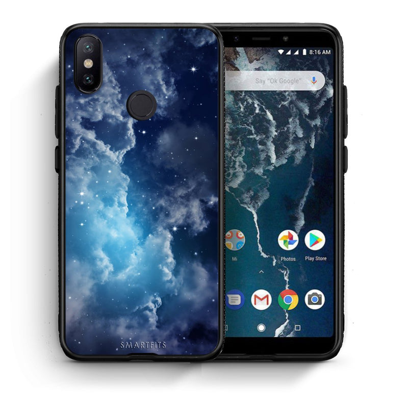 104 - Xiaomi Mi A2  Blue Sky Galaxy case, cover, bumper