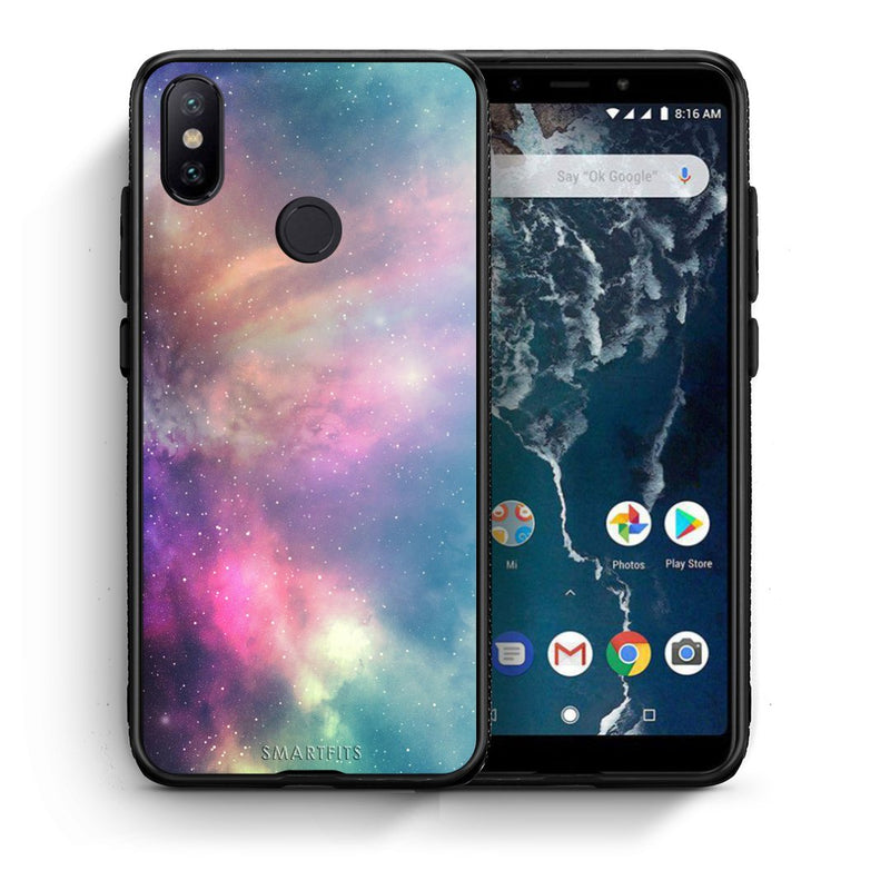 105 - Xiaomi Mi A2  Rainbow Galaxy case, cover, bumper
