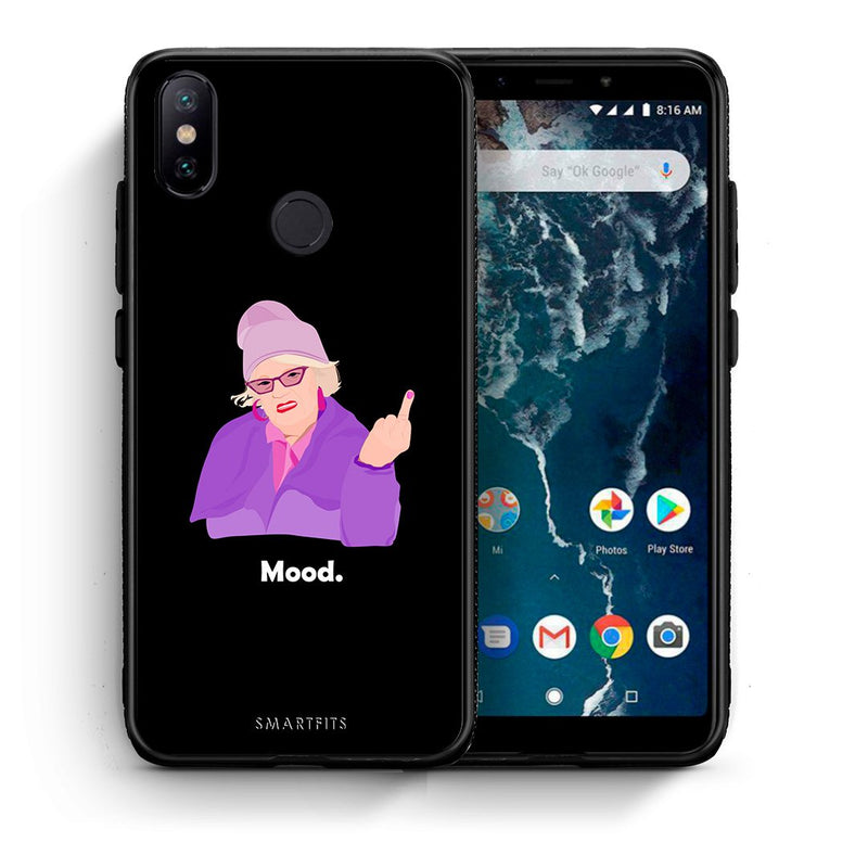 Θήκη Xiaomi Mi A2 Grandma Mood Black από τη Smartfits με σχέδιο στο πίσω μέρος και μαύρο περίβλημα | Xiaomi Mi A2 Grandma Mood Black case with colorful back and black bezels
