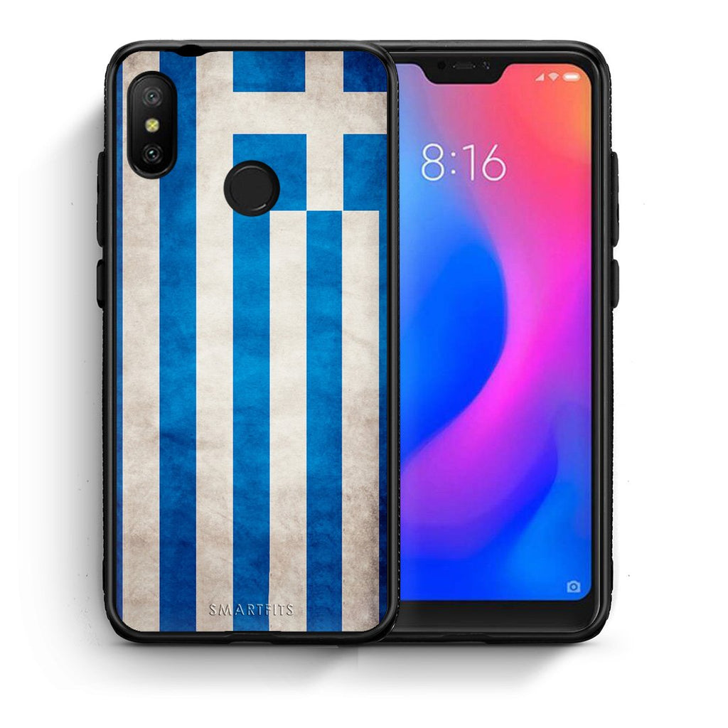4 - Xiaomi Mi A2 Lite Greece Flag case, cover, bumper