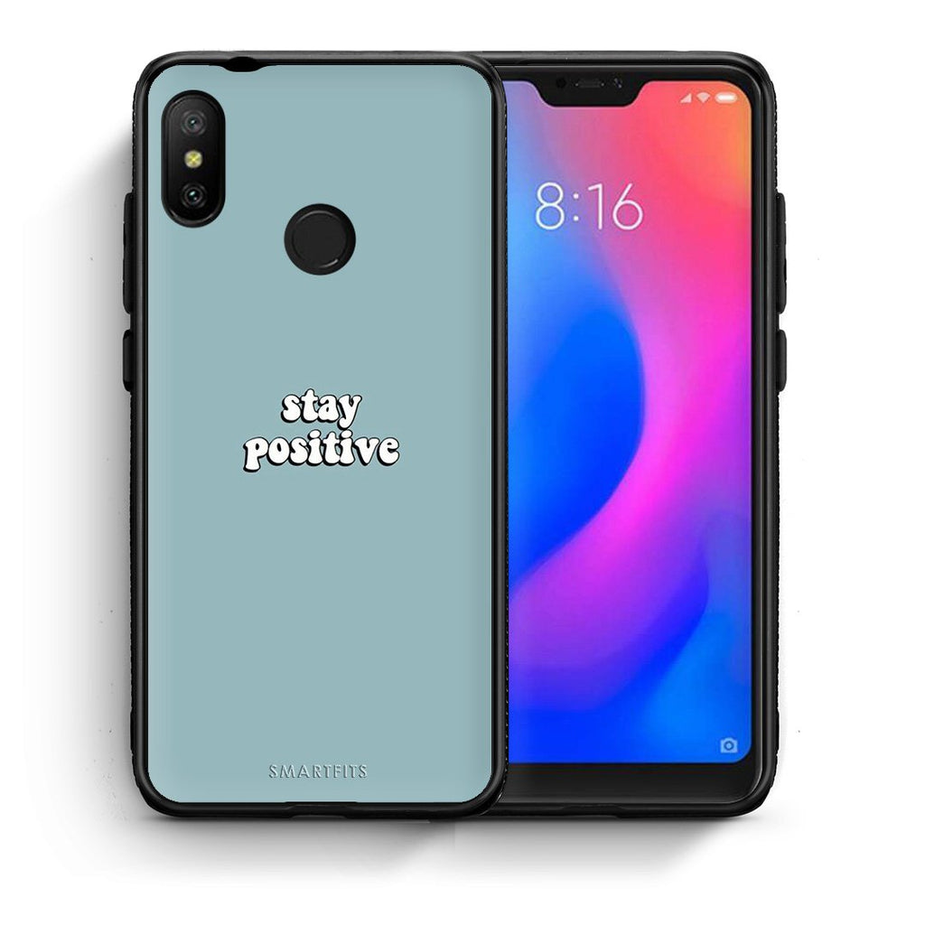 4 - Xiaomi Mi A2 Lite Positive Text case, cover, bumper