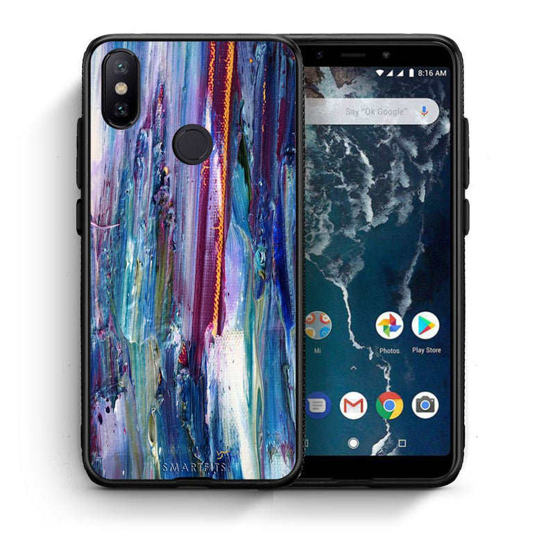 99 - Xiaomi Mi A2  Paint Winter case, cover, bumper