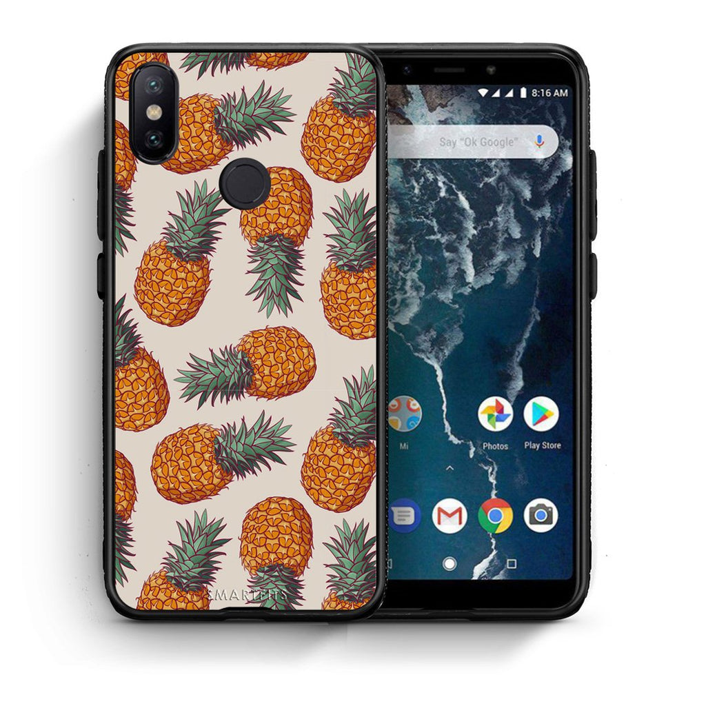 99 - Xiaomi Mi A2  Summer Real Pineapples case, cover, bumper