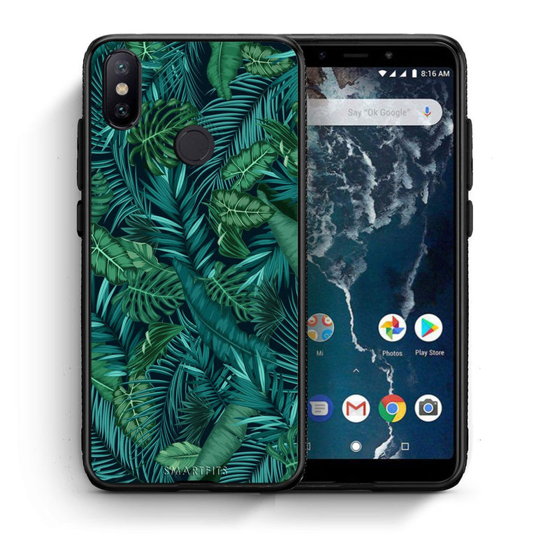 99 - Xiaomi Mi A2  Tropic Leaves case, cover, bumper